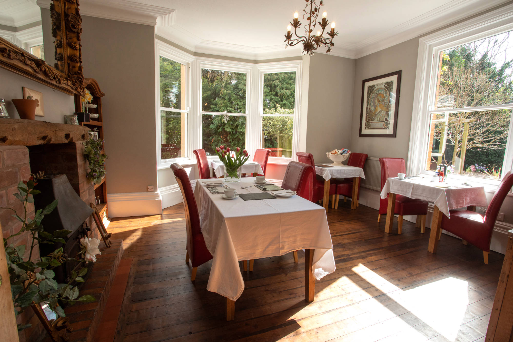 Breakfast Dining at Treherne House B&B in Malvern